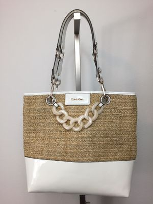 Calvin Klein straw large tote shoulder bag for Sale in Spokane, WA