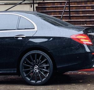 """SET OF 4 """" WHEELS RIMS TIRES MERCEDES BENZ BLACK AMG for Sale in San Diego, CA"""