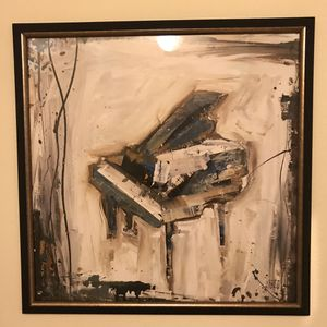 Custom framed abstract baby grand piano print for Sale in Seattle, WA