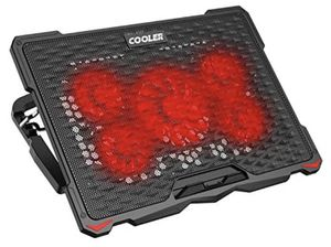 """AICHESON Laptop Cooling Pad for 17.3"""" Notebook, Red 5 Fans for Sale in Palmdale, CA"""