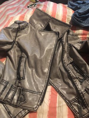 Grey Motorcycle Jacket for Sale in St. Louis, MO