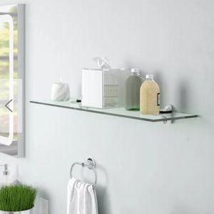 NEW. (2) Green tempered glass floating shelves (Jupiter, FL) for Sale in Jupiter, FL