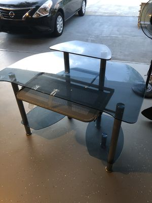 Blue Tinted Glass Office Desk for Sale in Orlando, FL