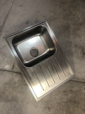 """Stainless steel Kitchen sink 26.5"""" by 19.3/4"""" with the dish drain attached for Sale in Canton, MA"""