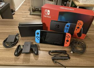 Nintendo switch with neon red blue joy cons for Sale in Arcadia, CA