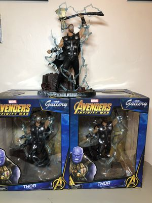 Marvel Thor Avengers Infinite War Statue Collectible Action Statue for Sale in Los Angeles, CA