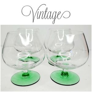 Vintage cocktail glasses snifters set of 4 for Sale in Chicago, IL