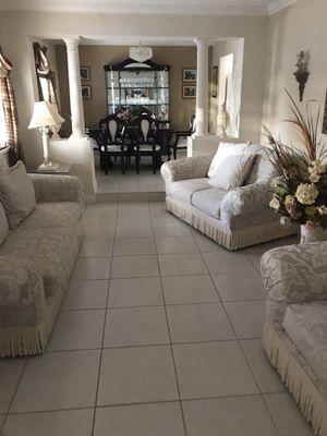 Juego de sala. Sofa love seat. Juego de comedor dining set. Muebles furniture living room for Sale in Miami, FL