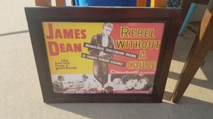 James Dean Rebel Without A Cause Framed Poster for Sale in Fresno, CA