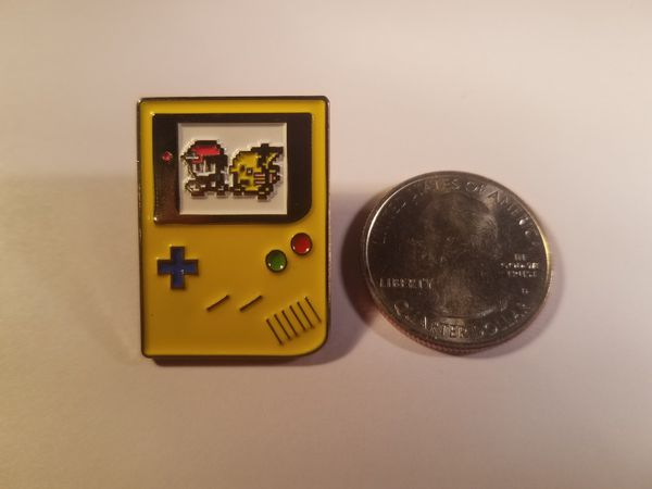 *SHIP ONLY* Gameboy Color Ash Ketchum and Pikachu 8 Bit Hard Enamel Collectible Pokemon Pin Badge