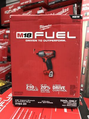 """Milwaukee 2754-20 FUEL 3/8"""" Impact Wrench M18 Tool Only for Sale in Framingham, MA"""