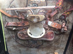 Charros Saddle. Vintage handmade saddle for Sale in San Diego, CA