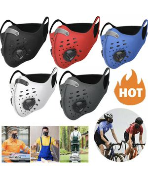 Face Masks with filter and valve. mascarillas, tapabocas con filtro y válvulas. for Sale in Miami, FL
