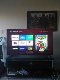 55in TCL 4k Roku tv.perfect condition for Sale in Chesapeake, VA