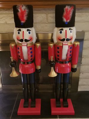"""Pair of 42"""" Christmas Nutcrackers / Toy Soldiers for Sale in Glendora, CA"""