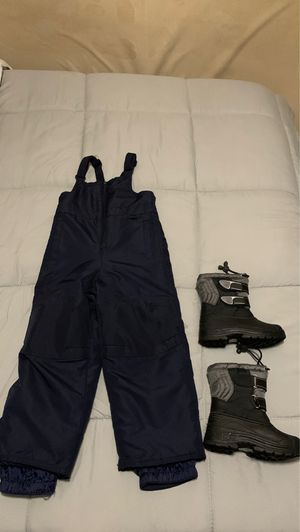 Kid snow bib and boots for Sale in Chandler, AZ