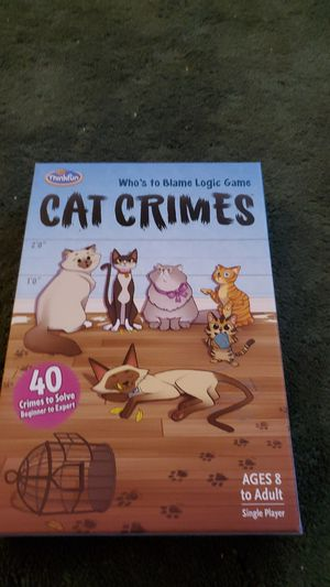 Cat crimes game for ages 8 and up for Sale in Queens, NY