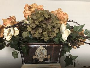 Floral Arrangement Silk Flower Home Decor Decoration w/Vase Fake Artificial Flowers for Sale in Litchfield Park, AZ