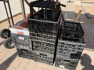 9 Heavy Duty Milk Crates for Sale in Tolleson, AZ