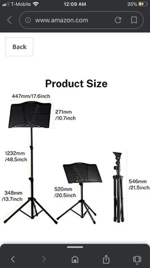 Donner Sheet Music Stand DMS-1 Folding Travel Metal Music Stand With Carrying Bag for Sale in Riverside, CA