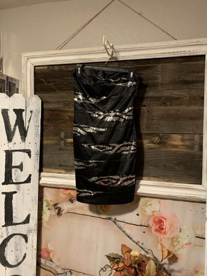 Black sequin tube top dress size small for Sale in Chandler, AZ