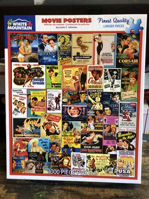 White Mountain Jigsaw Puzzle Movie Posters! - 1000 Pieces - Games -COMPLETE for Sale in Burbank, CA