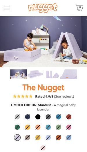 The Nugget Comfort Couch Kids! Confirmed Order ~ Meetup when arrives. LIMITED EDITION Stardust for Sale in Alexandria, VA