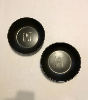 "Rae Dunn ""Eat"" Bowls - Set of 2 for Sale in Valparaiso, FL"