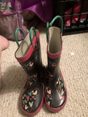 Rain boots toddler girls for Sale in Port St. Lucie, FL