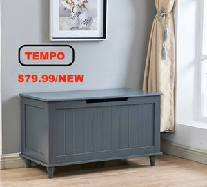 Solid Storage Bench, Grey for Sale in Huntington Beach, CA