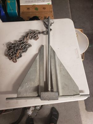15lb Galvanized U.S. Boat Anchor ⚓ with Chain for Sale in Henderson, NV