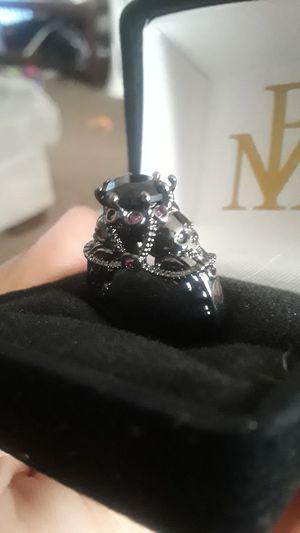 Size 7 Black gem skull engagement ring promise ring for Sale in Ontario, CA