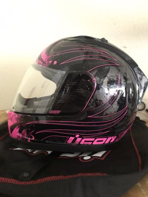 Pink Icon Motorcycle Helmet - Small for Sale in San Jose, CA