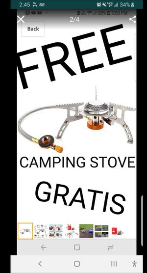 FREE PROFESIONAL HIGH HEAT, CAMPING STOVE THAT WILL COST MORE THAN 35.00 WHEN YOU BUY SOMETHING FROM MY PAGE for Sale in San Dimas, CA