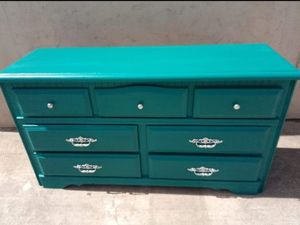 Beautiful solid wood dresser custom paint for Sale in Spring Valley, CA