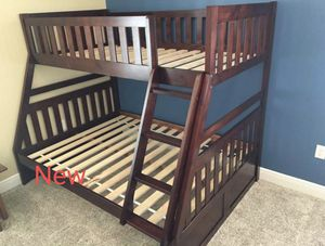 🍀NEW 🍀Rowe Cherry Twin/Full Bunk Bed for Sale in Jessup, MD