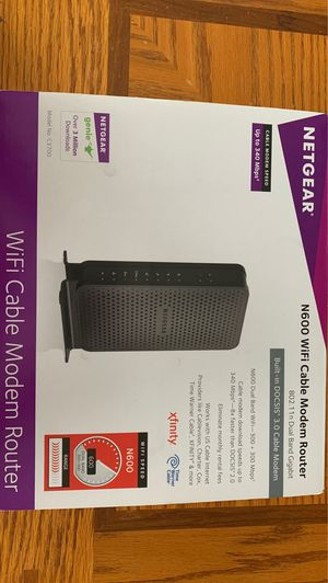 NETGEAR N600 WiFi Cable Modem Router for Sale in Lansing, MI