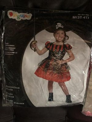 Halloween pirate costume size 3t-4t for Sale in North Miami Beach, FL
