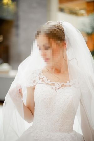 Custom-Made Wedding Dress. White with Glittering Speckles. Wedding Gown. for Sale in Seattle, WA