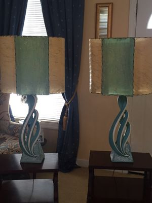 1950's Pair of Plasto Table Lamps Mint Condition! for Sale in Delmar, NY