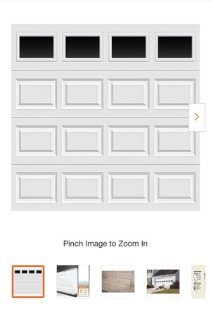 Clopay 8x7 Garage Door with windows insulated R6.5 for Sale in Providence, RI