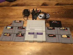 Super Nintendo snes with 10 games for Sale in Williamsport, PA