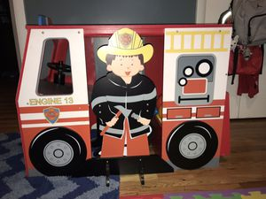 Kids Fire Engine Desk/Chair Set for Sale in Salt Lake City, UT