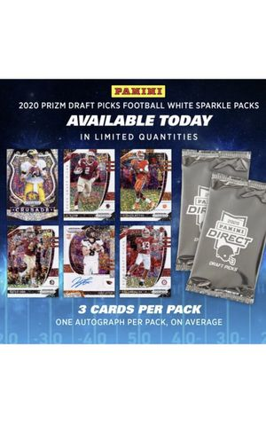 Brand new 2020 Panini Prizm Draft Picks Football White Sparkle Pack 3 Available for Sale in Placentia, CA