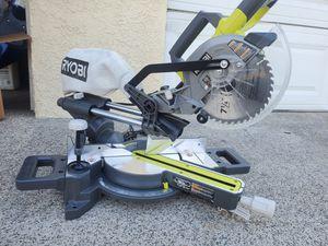 RYOBI 7-1/4 in. Sliding Miter Saw for Sale in Westminster, CA