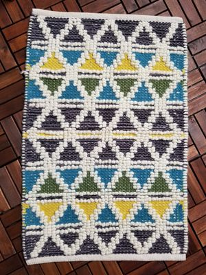 Colorful Rug! Patio or Indoor, Yellow, Green, Blue, White for Sale in Lake Forest, CA