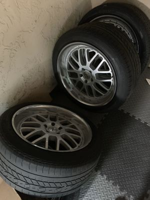 TSW 20in rims and tires 5x114.3 for Sale in San Jose, CA
