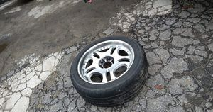 """22"""" Universal rims with tires open to trades $300obo for Sale in Hiram, GA"""
