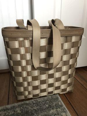 Longaberger on the go tote basket for Sale in Atlanta, GA