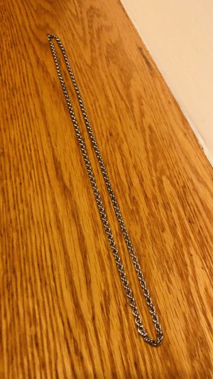 Silver Rope Chain Necklace for Sale in Meriden, CT